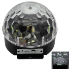 New Crystal Ball Wied Bluetooth v3.0 Speaker w/ Remote Control, Voice-activated Lights, USB