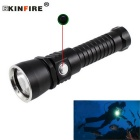 KINFIRE S260 XM-L2 U2 1100lm Stepless Dimming Diving Flashlight - Black + Silver (1 x 26650)