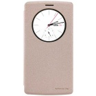 NILLKIN Protective PU + PC Case Cover w/ Auto Sleep + Window for LG G4 - Champagne Gold