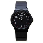 Genuine Casio MQ-24-1BLCK Analog Water Resistant Watch - Black