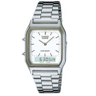 Genuine Casio AQ-230A-7D Men's Business Analog Watch - Silver
