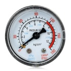 Air / Water Pressure Gauge - Black + Transparent White