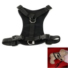 Nylon Chest Belt + Adjustable Leash Cord for Pet Dog - Black (L)