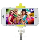 Retractable Bluetooth Selfie Monopod for Android / iOS Phone - Yellow