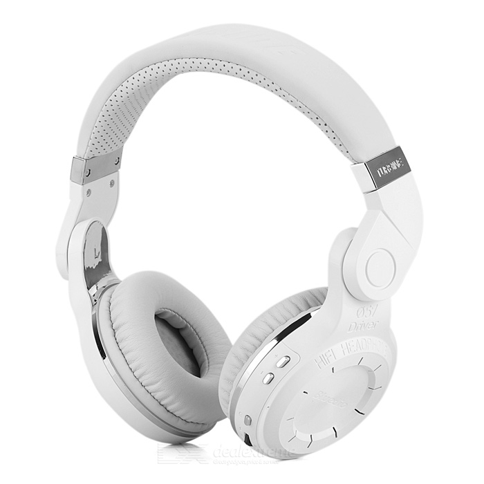 Bluedio T2 Rotatable Folding Wireless Bluetooth V4.1 Headphones Headsets w/ Mic. - White + Silver(SKU 389828)