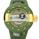 Männer Modische Rubber Band Analog + Digital-Quarz-Sport-Uhr - Green + Golden (1 x SR626SW)