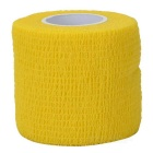Sports Athletes Non-Woven Fabric Flexible Breathable Adhesive Bandages Roll - Yellow (5cm x 4.5m)