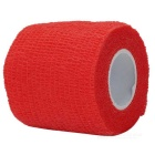 Sports Athletes Fabric Flexible Breathable Bandages Roll - Red