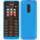 Genuine Nokia 105 8MB traditional cell phone - Cyan