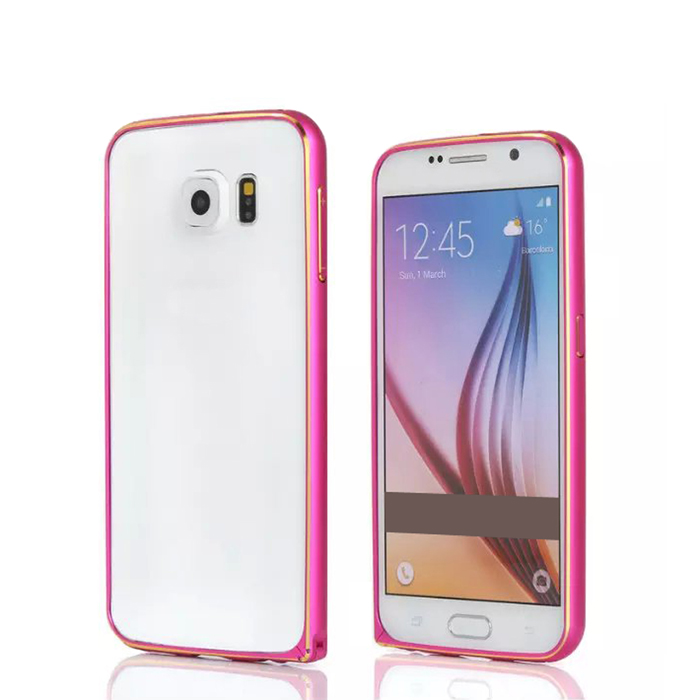 Aluminum Alloy Bumper Frame Case for Samsung Galaxy S6 - Red
