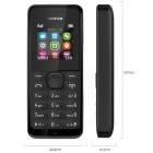 Genuine Nokia 105 Traditional Symbian GSM Bar Phone - Black