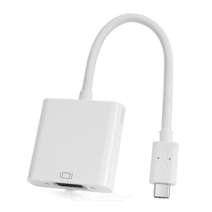 USB 3.1 TYPE-C to VGA Video Connection Adapter - WhiteAV Adapters And Converters<br>Form  ColorWhiteMaterialABSQuantity1 DX.PCM.Model.AttributeModel.UnitShade Of ColorWhiteCable Length17 DX.PCM.Model.AttributeModel.UnitConnectorOthers,VGA,USB 3.1 Type CPacking List1 x Adapter<br>