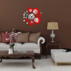 Fashionable Removable Clock Mirror Style DIY Art Wall Sticker Decal Mural for Home Decor (1 x AA)