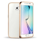 Ultra-Thin Protective Aluminum Alloy Bumper Frame Case for Samsung Galaxy S6 Edge - Golden