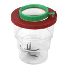 Insect Magnifier Observation Bottle for Children - Transparent + Black