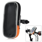 "Yanho Bike Handlebar Mounted Touch Screen Pouch Case Bag for 4.8~5.7"" Phones - Black + Orange (L)"