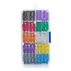 Universal 2~35A Car Fuse Set - Transparent + Silver (100PCS)
