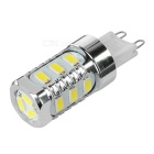 G9 5W LED Corn Lamp White Light 6000K 300lm SMD 5730 - Silver + White (90~265V)