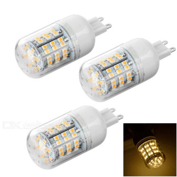 G9 6W LED Corn Lamp Warm White 360lm - White + Transparent (3PCS)