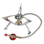 Bulin Portable High Altitude Outdoor Camping Cooking Gas Stove Burner - Silver