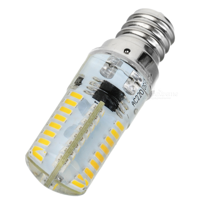 E12 4W Dimmable LED Lamp Bulb Warm White 3500K 180lm 64-SMD (AC 220V)
