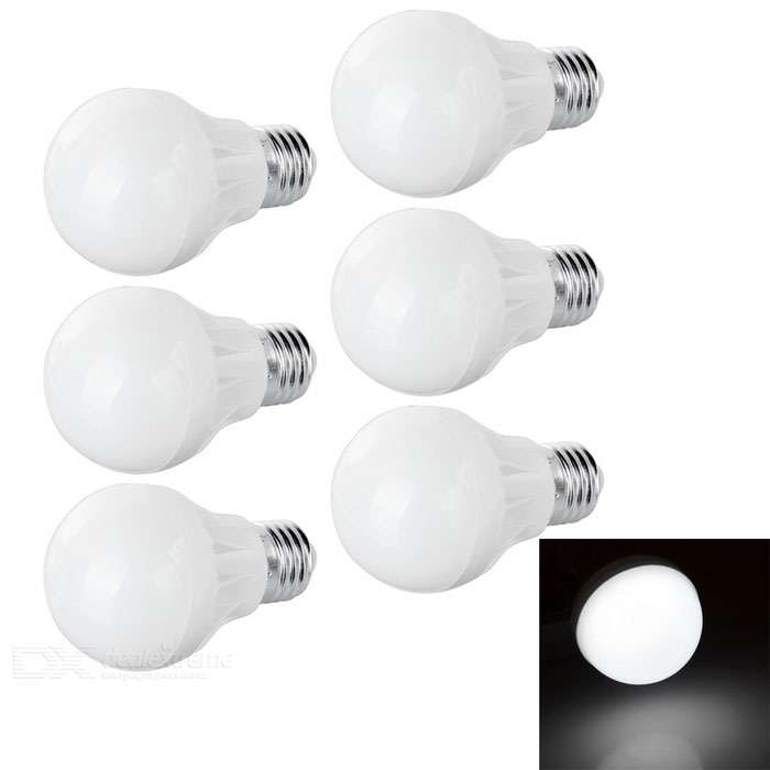 E27 3.5W LED Light Bulbs Cool White Light 250lm 9-SMD (220V / 6PCS)
