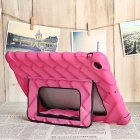 Tire Pattern Protective Back Case w/ Holder for IPAD AIR - Deep Pink