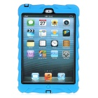 Tire Pattern Dustproof Protective PC + Silicone Back Case w/ Holder for IPAD MINI - Blue