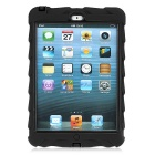 Tire Pattern Dustproof Protective PC + Silicone Back Case w/ Holder for IPAD MINI - Black