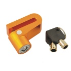 CARKING Motorcycle Anti-Theft Metal Disk Brake Lock 2 Keys - Golden