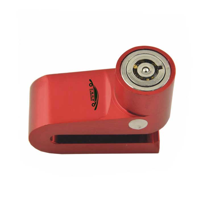 CARKING Motorcycle Anti-Theft Metal Disk Brake Lock 2 Keys - Red
