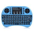 Rii Mini 2.4G Wireless 92-Key Keyboard w/ Touchpad & Backlight & USB Receiver - Blue