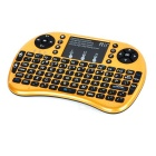 Rii Mini 2.4G Wireless 92-Key Keyboard w/ Touchpad - Golden