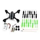 ABS Housing Case + Propellers + Motors + LED Lights Set for Hubsan X4 H107C – Black + White