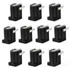 5.5 x 2.1mm DC Power Sockets - Black (10 PCS)