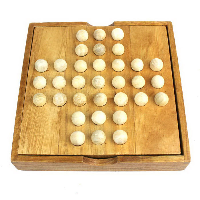 Classical Puzzle Toy Board Games Independent Diamond Chess - Wood