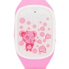 Cute Smart Wrist Watch w/ GPS Positioning / SOS / Pedometer for Kids - Pink + White
