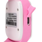 Smart Wrist Watch w/ GPS Positioning, SOS for Kids - Pink + White
