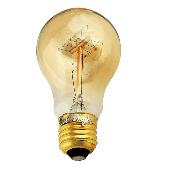Youoklight e27 40w tungsten filament light bulb warm white 110v free shipping dealextreme Tungsten light bulbs