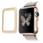 0.2mm Premium Tempered Glass Screen Protector w/ Metal Frame for Apple Watch 42mm - Golden