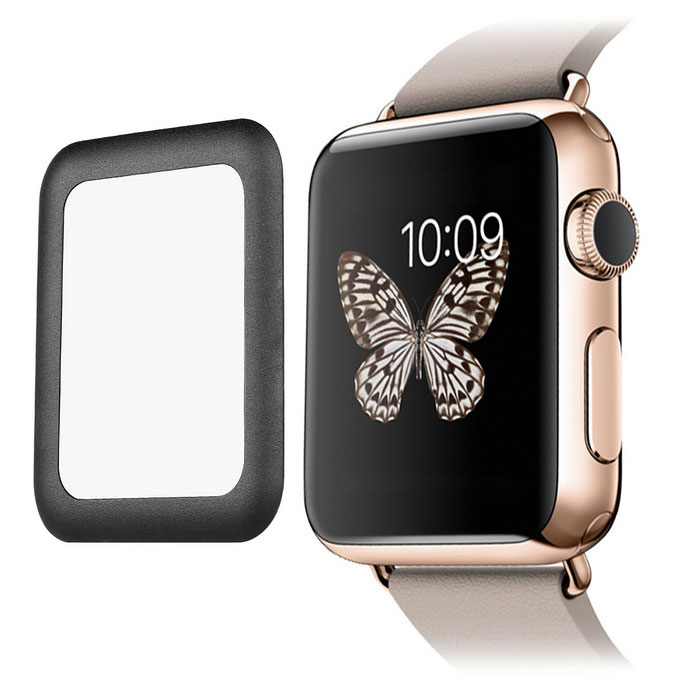 Tempered Glass Screen Protector for Apple Watch 42mm - BlackScreen Protectors<br>Form ColorBlackMaterialAluminium alloy + tempered glassQuantity1 DX.PCM.Model.AttributeModel.UnitCompatible BrandAppleCompatible ModelsApple watchScreen TypeGlossyScreen SizeOthers,42mmPacking List1 x Tempered glass screen guard1 x Cleaning cloth1 x Dust paste1 x Alcohol prep pad<br>