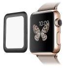 0.2mm Premium Tempered Glass Screen Protector w/ Metal Frame for Apple Watch 42mm - Black