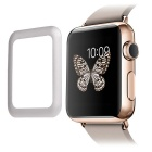 0.2mm Premium Tempered Glass Screen Protector w/ Metal Frame for Apple Watch 42mm - Silver