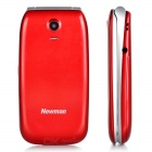 Newman F10 GSM Flip Phone w/ 300KP Camera, Dual SIM, FM, MP3, Dual LED Torch for Elderly - Red