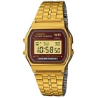 Genuine Casio A-159WGEA-5DF Men's Digital Stainless Steel Watch - Gold