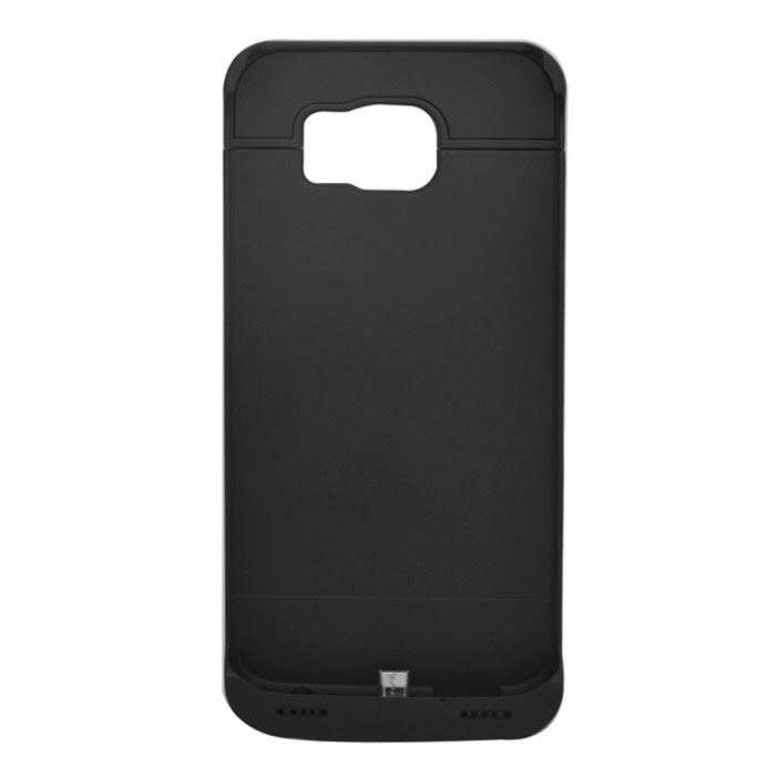 4200mAh Power Bank Back Case w/ LED for Samsung Galaxy S6 - Black