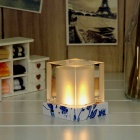 Solar Powered LED Rechargeable Candle Crystal Lamp - Transparent