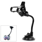 Mini ABS Adjustable Car Mount Holder w/ Suction Cup for GPS / Phones - Black