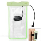 "Waterproof Outdoor Sports PVC + ABS Armband Case w/ 3.5mm Plug for 5.5"" Mobile Phones - Green"