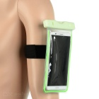 "Waterproof Sports Armband Case w/ 3.5mm Plug for 5.5"" Phones - Green"